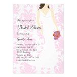 Niedliches rosa Brautparty laden ein Ankündigungskarten