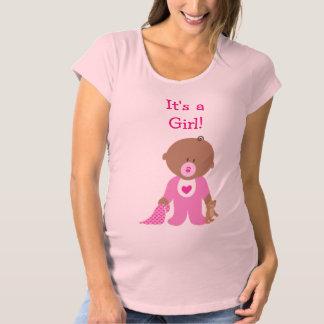 Niedliches Rosa gekleidetes Schwangerschafts T-Shirt