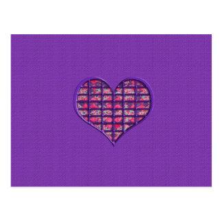 Niedliches rosa Girly Herz-materieller Postkarte