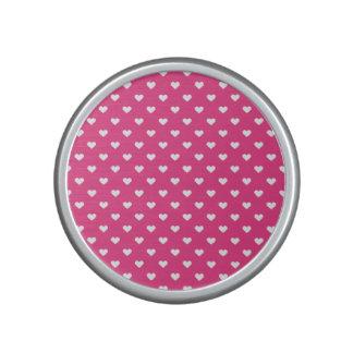 Niedliches rosa Herz-Muster Bluetooth Lautsprecher