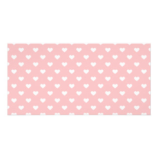 Niedliches rosa Herz-Muster Karte