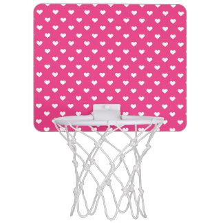 Niedliches rosa Herz-Muster Mini Basketball Netz