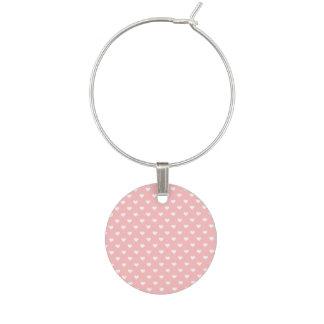 Niedliches rosa Herz-Muster Weinglas Anhänger