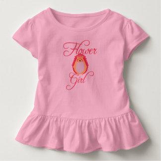 Niedliches rosa Igels-Blumen-Mädchen Kleinkind T-shirt