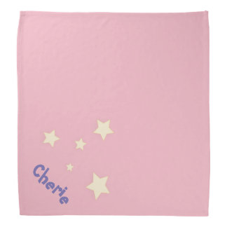 Niedliches rosa personalisiertes Haustier Halstuch