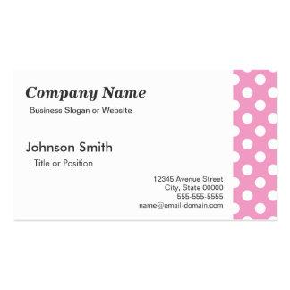 Niedliches rosa Polka-Punkt-Muster Visitenkarten