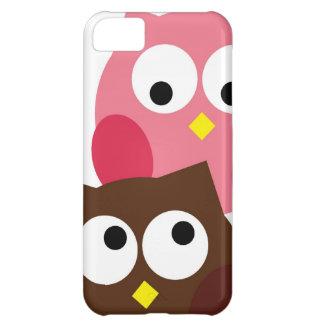 Niedliches Rosa und Brown-Eulen iPhone Fall iPhone 5C Hüllen