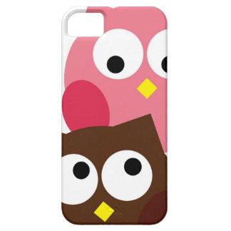 Niedliches Rosa und Brown-Eulen iPhone Fall iPhone 5 Schutzhülle