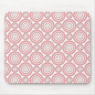 Niedliches rosa und weißes geometrisches mauspads