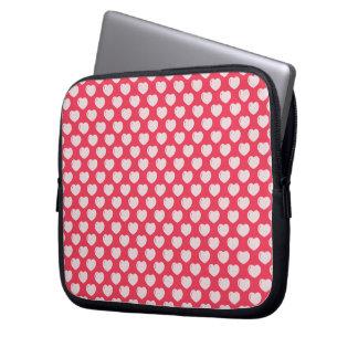 Niedliches rosa und weißes Herz-Muster Laptop Sleeve Schutzhüllen