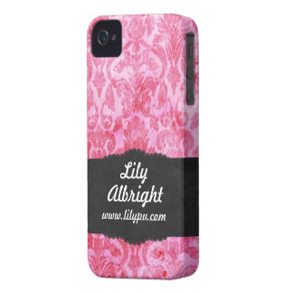 Niedliches rosa Vintages BlackBerry-mutiger Kasten iPhone 4 Case-Mate Hüllen