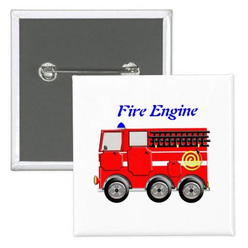 Niedliches rotes Feuer-Motor-Jungen-Knopf-Abzeiche Buttons