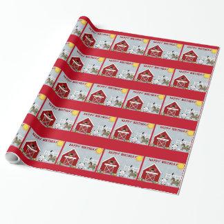 Niedliches rotes geschenkpapier