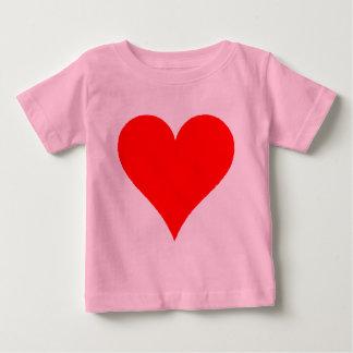 Niedliches rotes Herz-Shirt für Mädchen Baby T-shirt