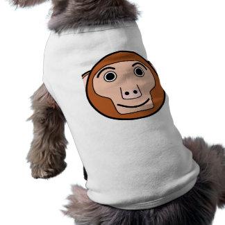 Niedliches rundes Cartoon-Affe-Gesicht Shirt