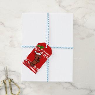 Niedliches Sankt-Dackel-Weihnachten Geschenkanhänger