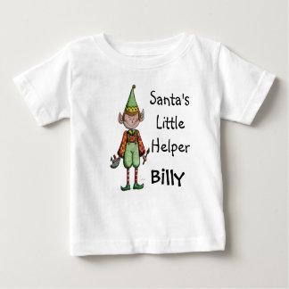 Niedliches Sankt kleines Helfer-Elf-Baby-T-Shirt Baby T-shirt