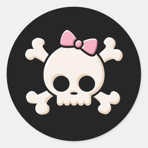 Niedliches Schädel-Mädchen Stickers