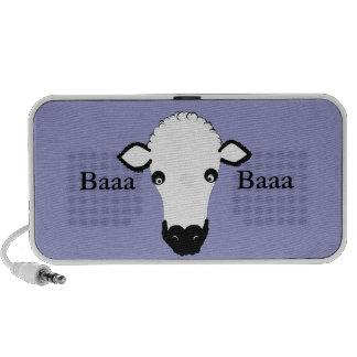 Niedliches Schaf-Gesicht addieren Text Speaker