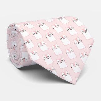 Niedliches Schlafenkitty-Katzen-Muster Krawatte