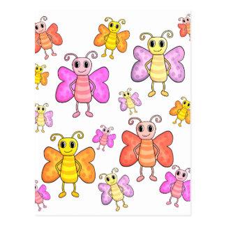 Niedliches Schmetterlingsmuster Postkarte