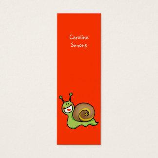 Niedliches Schnecke-Lesezeichen Mini Visitenkarte