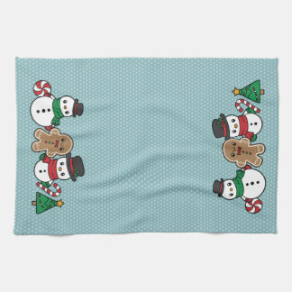 Niedliches Schnee-Kumpelküchentuch Handtuch