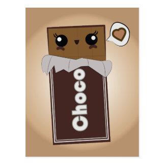 Niedliches Schokoladen-Bar Postkarte