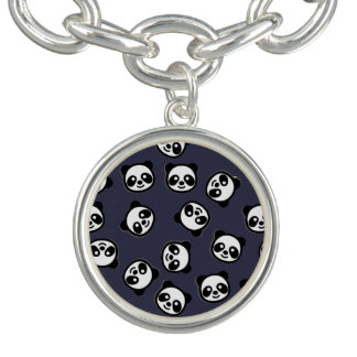 Niedliches Schwarzweiss-Panda-Cartoon-Muster Armband