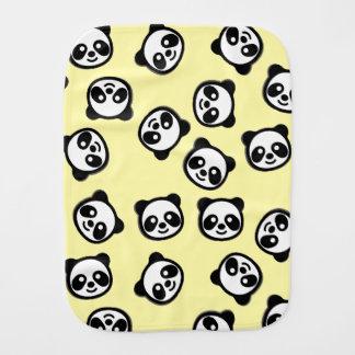 Niedliches Schwarzweiss-Panda-Cartoon-Muster Spucktuch