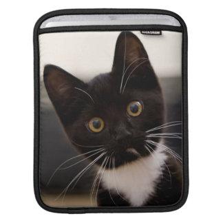 Niedliches Schwarzweiss-Tuxedo-Kätzchen Sleeve Für iPads