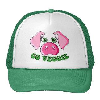 Niedliches Schwein, gehen Veggie Baseballmütze