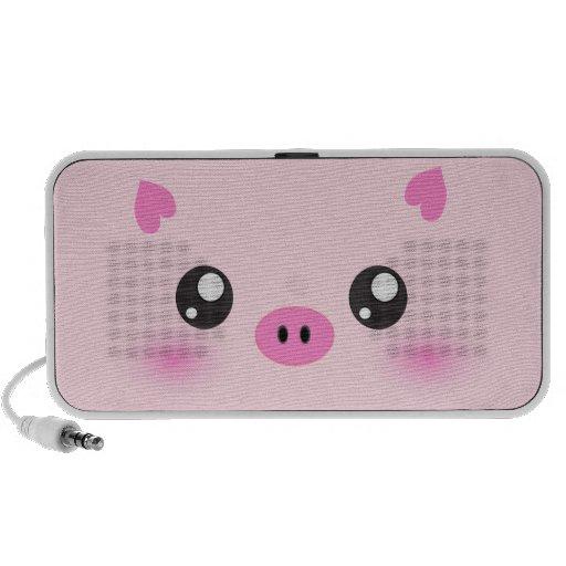 Niedliches Schwein-Gesicht - kawaii Minimalismus Notebook Speaker