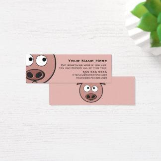 Niedliches Schwein Mini Visitenkarte