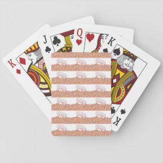 Niedliches Schwein Schlamm-in der lustigen Spielkarten