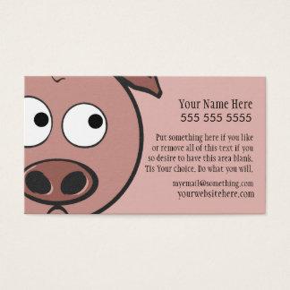 Niedliches Schwein Visitenkarte