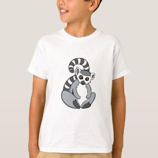 Niedliches Sitzen Ring-Angebundener Lemur T-Shirt