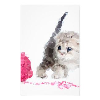Niedliches sonderbares Kätzchen entzückendes Low Briefpapier