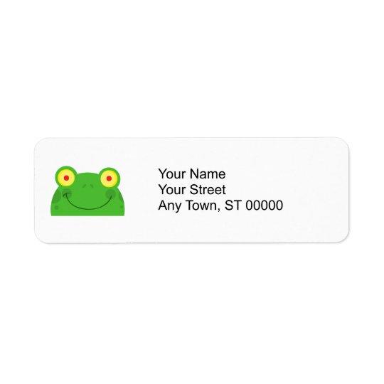 niedliches spähendes Cartoonfrosch Froggygesicht