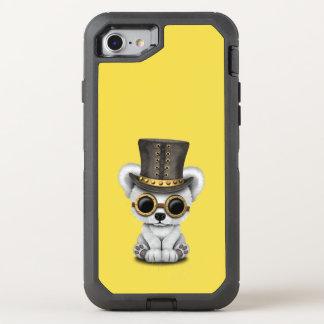 Niedliches Steampunk Baby-polarer Bär OtterBox Defender iPhone 8/7 Hülle