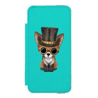 Niedliches Steampunk Babyroter Fox Incipio Watson™ iPhone 5 Geldbörsen Hülle