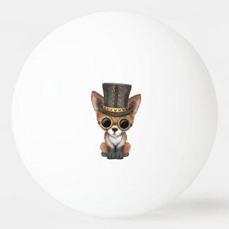 Niedliches Steampunk Babyroter Fox Tischtennis Ball