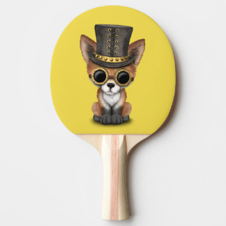 Niedliches Steampunk Babyroter Fox Tischtennis Schläger