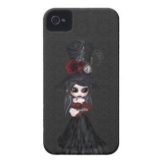 Niedliches Steampunk Goth Mädchen-BlackBerry mutig Case-Mate iPhone 4 Hülle