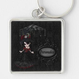 Niedliches Steampunk Goth Mädchen-personalisierte  Schlüsselbänder