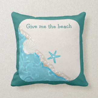 Niedliches Strand-Thema Kissen