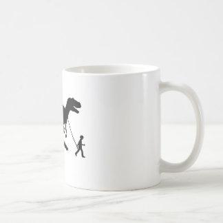 Niedliches T-rex Haustier Kaffeetasse