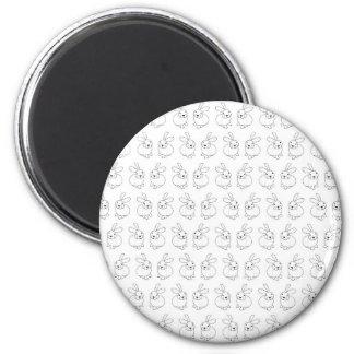Niedliches tatty Hopfen der Häschenkaninchen Runder Magnet 5,1 Cm