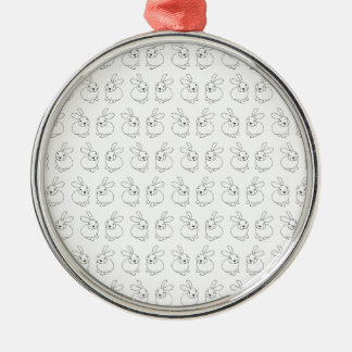 Niedliches tatty Hopfen der Häschenkaninchen Silbernes Ornament