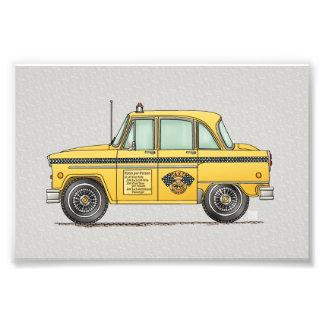 Niedliches Taxi-Fahrerhaus Fotografie
